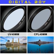 Camera & Photo  Brand New 49MM UV CPL Circular Polarising Filter Kit for Sony NEX-3 NEX-5 NEX-6 NEX-7 18-55mm lens