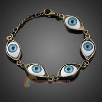 R1B1 Fashion Punk Rhinestones Studded Evil Eyes Lovely Eyeballs Style Bracelet