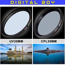Camera & Photo 30mm UV+CPL camera lens filter Ultra-violet Circular Polarizing CPL Filter kit for canon nikon DSLR camera lens