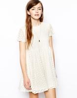 Zr 2014 lace one-piece dress fashion chrysanthemum embroidery lace plus size princess one-piece dress 8833