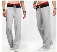 Free shopping 2014 summer brand design sports pants 100% cotton slim fit mens jogging pants 3-colours plus size S-2XL / MK1