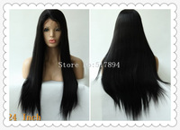 """120% Density!Various Shipment!Brazilian Human Hair Front Lace With Stretch Lace Back #1 10""""16""""20""""22""""24""""Silk Straight E04"""