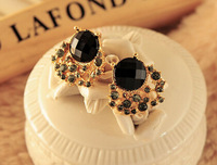 free shipping 2014 summer new fashion  Section crystal Earrings wholesale NO O49