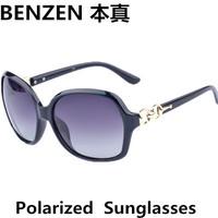 2014 Women Polarized Sunglasses Fashion Woman Sun glasses UV 400 Retro Shades Oculos With Case Black  1009A