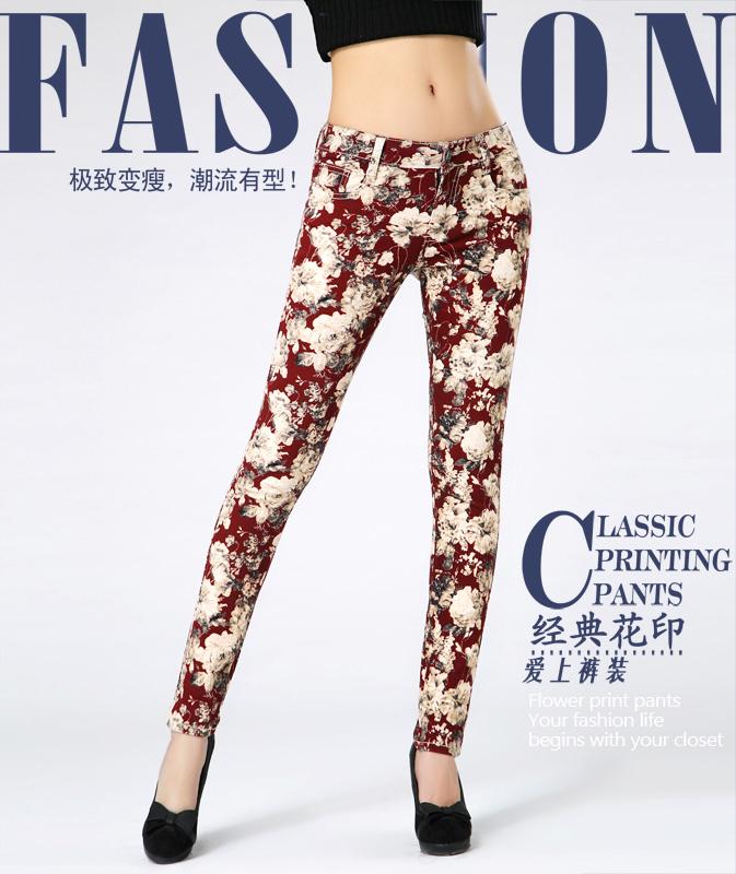 s штаны & capris женщин цветок