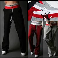 2014 New Spring Men's Sports Pants Casual Fashion Pants Fashion Design SWEATPANTS Male Trousers Good Quality Promotion  S-2XL