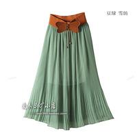 2014 summer chiffon beach skirt pleated skirt bust skirt long skirt