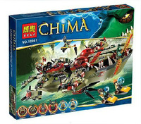 620pcs Assembly blocks BELA CHIMA  Cragger's Command Ship best gift for kids  One hundred kinds of play methods