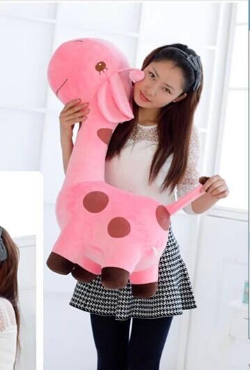 Stuffed animal 85 cm pink giraffe plush toy doll throw pillow gift w2008(China (Mainland))