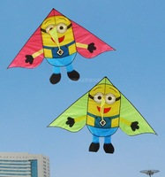 new free shipping high quality Minions kite 10pcs/lot children kites with handle line outdoor toys kites flying toys resin