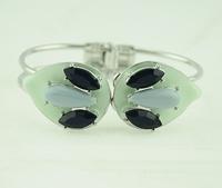 2014 newest resin stone drop green enamel bracelets bangles high quanlity cuff bangle for women fashion jewelry
