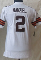 Wholesale #2 Johnny Manziel Youth 2014 Limited American Football Jerseys Cheap Sale