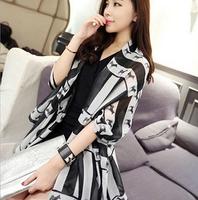 Free Shipping! 2014 New! Black and White Striped Zebra European Style Fringed Ladies Scarves Cotton Scarves  Shawl ,N-16