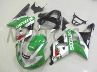 Motorcycle Fairing kits for SUZUKI GSXR1000 K2 00 01 02 GSXR1000 2000 2001 2002 Green silver  blk ABS Plastic Fairings set Sn30