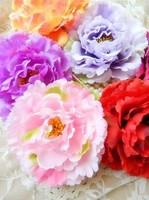 Mother peony flower head hair accessories wedding dress seaside resort side clip hat flower headdress ornaments