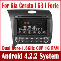 Android 4.2 Car DVD Player for Kia Cerato K3 Forte 2013 with GPS Navigation Radio BT USB AUX DVR OBD 3G WIFI Audio Stereo SatNav