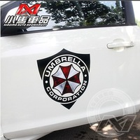 Car styling Resident Evil protective umbrella shield car sticker for car door