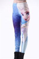 New 2014 Fitness Legging Women Let It Go Frozen Aisha Movie Digital Print Leggins Womens Leggings Girls Pants Drop Ship S106-489