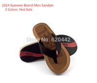 Free Shipping 2014 Summer Men's Sandals Flip-flops Sandals Slippers Plus Size Casual Men Summer Shoes Beach Shoes Size 41-45 G8