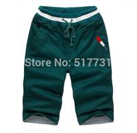Hot ! New 2014 casual sport beach shorts men's top quality M-XXXL 4XL 5XL 6XL fashion cotton trousers 8 colors