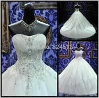 2014 New Princess Ball Gown Graceful Bride Wedding dress Bridal Custom Size vestido de noiva Gown