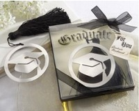 "100PCS/LOT ""The Next Chapter"" Graduation Bookmark with Elegant Black Tassel Party Favors gift new arrival"