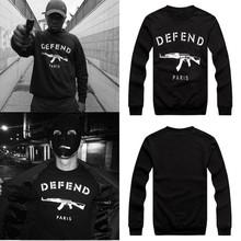 2014 New men women GIV DEFEND PARIS AK47 Automatic rifles print pullover Long-Sleeve Hiphop 3D Sweatshirts Hoodies sweaters Tops(China (Mainland))