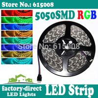 10m 5050 smd rgb led strip light waterproof 300leds/reel dc 12v flexible