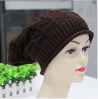 Free shipping triangular diamond lattice In the spring and autumn winter hat Han edition knitting hat
