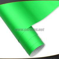 1.52*20m High quality Green Matte Chrome mirror vinyl car wrap with air channels