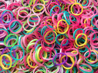 5Packs Kids DIY Mixed Pearl Colors Loom Rubber Bands Refills 3000 Bands+120pcs S-Clips+5 Hook  Free Shipping