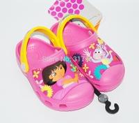 Children's summer sandals ,  cartoon Pink DORA girl 's cartoon casual slippers  hole shoes