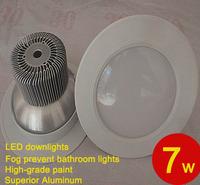 white Anti fog Ceiling 7w 9w led down lights 85-265V CE rohs approval 3pcs/lot