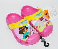 Children's summer sandals ,  cartoon Red DORA girl 's cartoon casual slippers  hole shoes