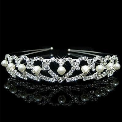 jewelry The bride silver hair hoop tire marriage crown hair and dress