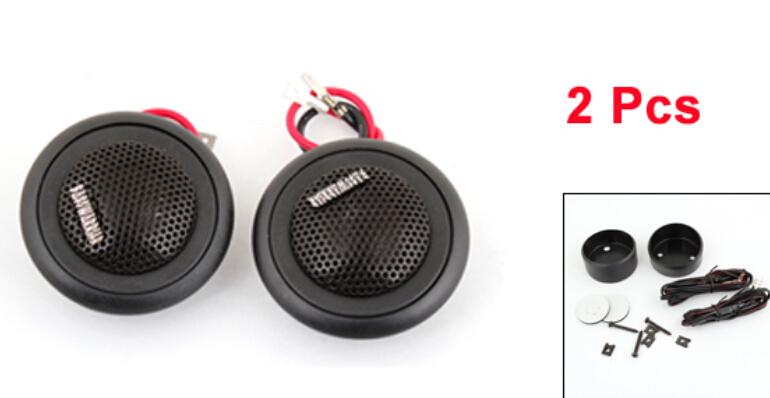 """2 x Flush Mount 2.2"""" Metal Car Speaker Micro Dome Tweeter Black 150W(China (Mainland))"""