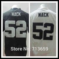 Men's Elite Football Jerseys 2014 Draft Oakland #52 Khalil Mack Sports Jersey,Embroidery Logos,Free Shipping,Accept Mix Order