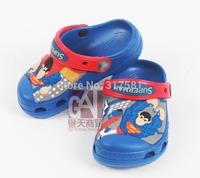 Children's summer sandals ,  cartoon superman boy's cartoon casual slippers  hole shoes