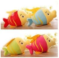 10pcs/lot free shipping Fashion Lovely small goldfish Pendant plush children toy ,wedding party gift wholesale