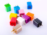 5V 2a Colorful Travel Wall home Charger Plug with 2 USB port For iphone samsung ipad mobile phone Tablet DHL free ship Wholesale