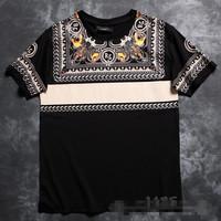 GIVE brand royal 2014 summer brand men's short sleeve shirt fashion Round neck t-shirt cotton casual tshirt hiphop tshirt 204