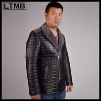 LTMB4654  Men's fashion leather jacket with  full sleeve short style  fashion   leather coat hot sale style 2014