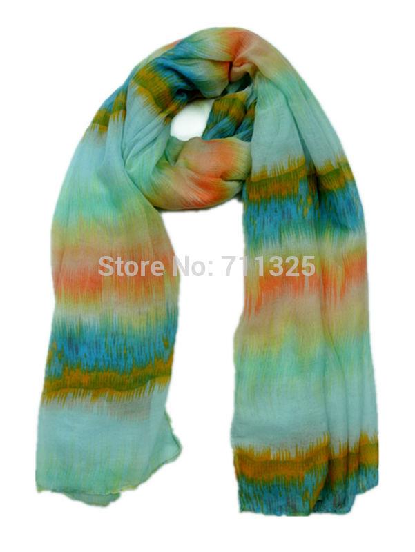 New Brand Soft Lencos Strip Color Design Long Fashion Women Elegant Scarves Muffler Cape JSB02(China (Mainland))