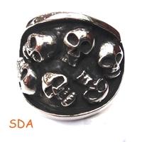 Multi-Skull Rings for man High  Stainless Steel Ring Min.Order 15Pcs Cheap Wholesale Mens Ring