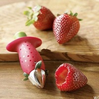 1pc Novelty Red Color Strawberry Tomatoes Stem Leaves Huller Remover