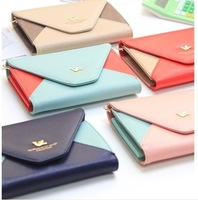 Blended bag Korean Style Woman PU Relaxation lady Lovely Wallet Free Shipping