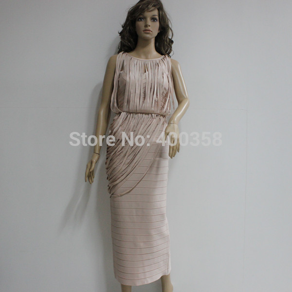 Bude long bandage dress tassel design women evening dresses 90360