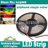 100m 3528 smd led strip light single color non waterproof flexible 300leds/reel 5m/reel
