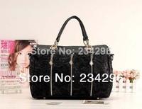 New 2014 Women Lace Zippers Handbags Women Bags Women Messenger Bags Women Solid Bags Fashion Bags