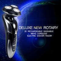 Electronic Rechargeable Shaver Triple Blade 3 Segment Electric Shaving Razors Men Face Care 3D Floating